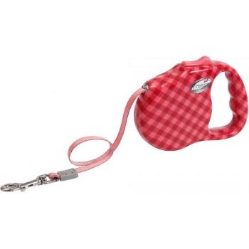 """Freego / Фрего Рулетка """"Клетка диагональ"""" лента, 5м х 41 кг, разм.L, красная"""