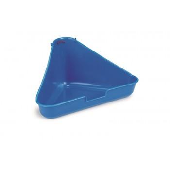 Beeztees / Бизтис 810898 Туалет д/грызунов угловой, голубой цвет 35*20*17см