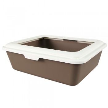 Petmode Туалет с ободком Sanitaire Range 46х38х13, коричневый