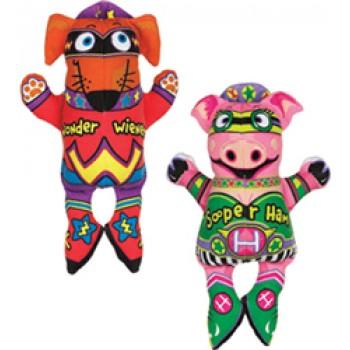 "Fat Cat Игрушка д/собак - ""Летающие супергерои"", мягкая,, High Flying Sooper Heroes Dog Toy (630087)"