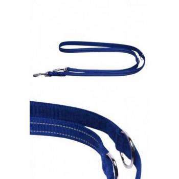 Papillon / Папиллон Светоотражающий тренировочный поводок 20мм-200см, синий
