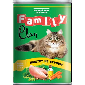 Clan / Клан Family консервы д/кошек паштет из курицы, 0,415 кг