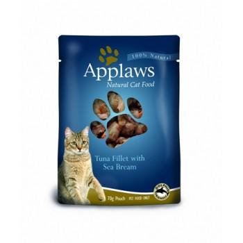 Applaws / Эпплаус паучи для кошек с Тунцом и Морским окунем 0,07 кг