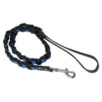 Зооник Поводок плетеный кожаный со стропой 1м* 20мм для маленьких и средних пород собак,