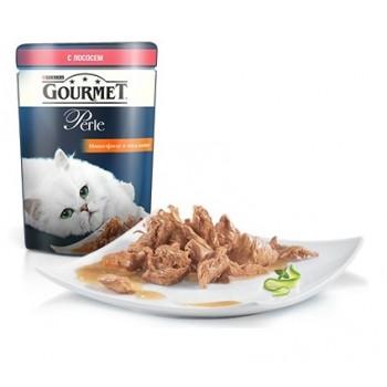 Gourmet Perle / Гоурмет Перле для кошек Мини-Филе Лосось (пауч) 85 гр