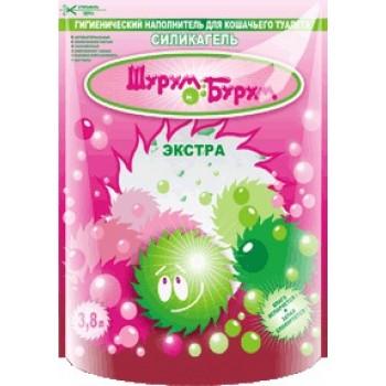Шурум-Бурум Экстра Наполнитель силикагелевый 3,8 л зеленый