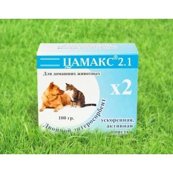"""ЦАМАКС """"Двойной энтеросорбент"""" для домашних животных (ускоренная, активная очистка) 100 гр (1х5) (К40)"""
