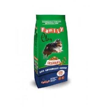 Clan / Клан Family сухой корм для взрослых активных собак Курица, 15 кг
