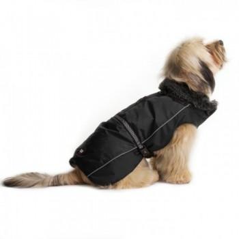 Dog Gone Smart / Дог Гон Смарт Нано куртка зимняя с меховым воротником Aspen parka 66см, черный