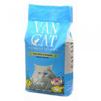 """Van Cat Комкующийся Наполнитель """"100% Натуральный"""", без пыли, пакет (Natural) 15 кг"""