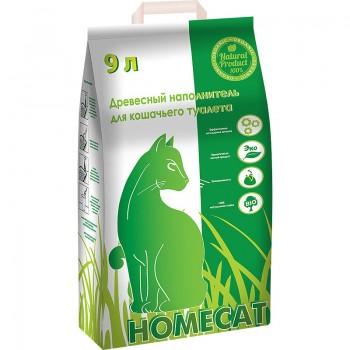 HOMECAT / Хоум Кэт Древесный Наполнитель мелкие гранулы 3 кг 9 л