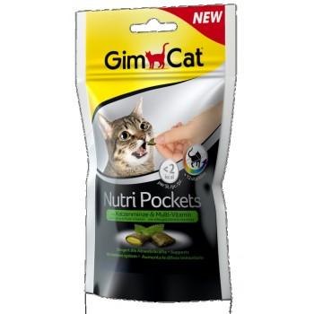 Gimcat / ГимКэт Подушечки Нутри Покетс с кошачьей мятой и мультивитаминами д/кошек, 60 г