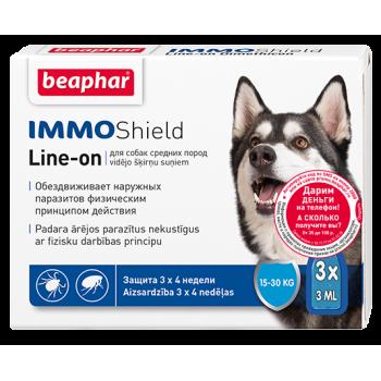 Beaphar / Беафар Капли Vermicon/IMMO Shield от блох и клещей д/собак средних пород 3 пип.