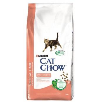 """Cat Chow / Кэт Чоу """"Special Care"""" сухой 15 кг Чувст.Пищеварение, чувствительная кожа"""