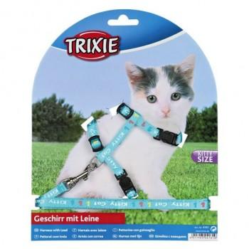 Trixie / Трикси Шлейка д/КОТЯТнейлон с рисунком 4181
