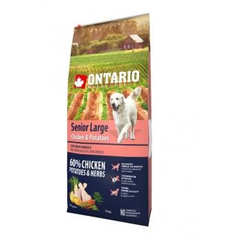 Ontario / Онтарио для пожилых собак крупных пород с курицей и картофелем 12 кг