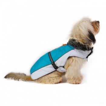 Dog Gone Smart / Дог Гон Смарт Нано куртка зимняя с меховым воротником Aspen parka 40,5см, бирюзовый