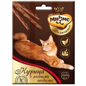 Мнямс Деликатес лакомые палочки 9 см для кошек с курицей и лесными ягодами 3х4 г