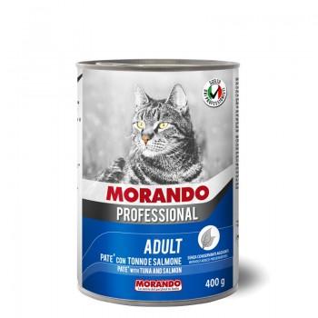 Morando / Морандо Professional консервированный корм для кошек паштет с тунцом и лососем, 400г, жб