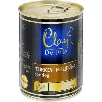 Clan / Клан De File консервы для собак Индейка, 0,34 кг