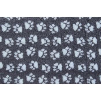 ProFleece коврик меховой 1х1,6м угольный/голубой