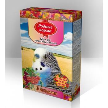 Родный корма Корм для волнистых попугаев 500 г ягоды 1х14 3710