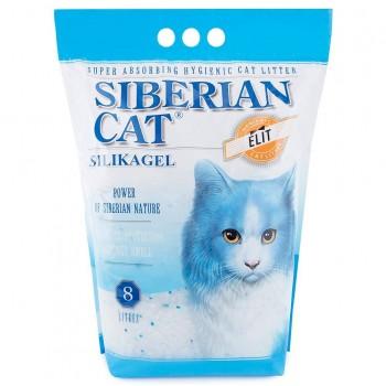 Сибирская Кошка Наполнитель силикагель Элита (синие гранулы), 8 л
