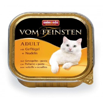 Animonda Vom Feinsten Menue конс. 100 гр. с Мясом дом.птицы и пастой для кошек (ламистер) 83851