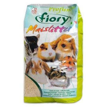 Fiory / Фиори наполнитель кукурузный для грызунов Maislitter Profumato лимон 5 л