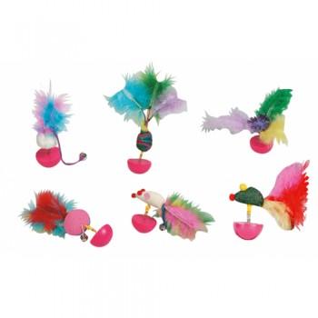 Karlie-Flamingo / Карли Фламинго Игрушка д/кошек неваляшка