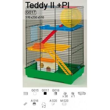 Iнтер-Zоо / Интер-Зоо Клетка д/грызунов TEDDY II комплект 370*250*510 (цветная) (G017)