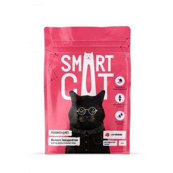 Smart Cat / Смарт Кэт сухой корм для взрослых кошек с ягненком , 0.4 кг