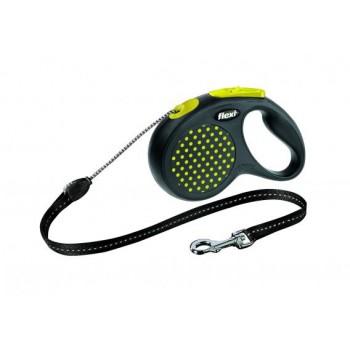 Рулетка Flexi Design M 5м*20кг (трос) желтый