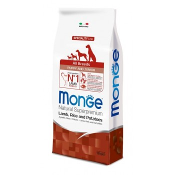 Monge / Монж Dog Speciality Puppy&Junior корм для щенков всех пород ягненок с рисом и картофелем 12 кг