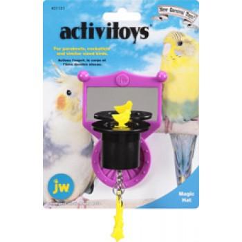 JW Игрушка д/птиц - Зеркальце с магической шляпой, пластик Activitoy magic hat (31131)