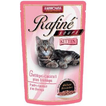 Animonda Rafine Soupe Kitten конс. 100 гр. Коктейль из мяса домашней птицы и креветок для котят (пауч) 83651 (83389)