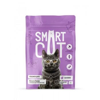 Smart Cat / Смарт Кэт сухой корм для взрослых кошек с кроликом , 0.4 кг