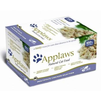 "Applaws / Эпплаус набор для кошек ""Куриное ассорти"": 8шт.*60г 0,48 кг"