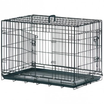 Karlie-Flamingo / Карли Фламинго Клетка для собак черная, 2 двери 75*46,5*53 см