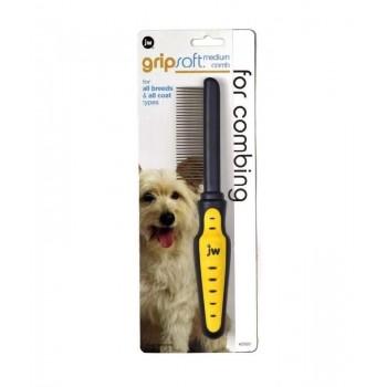 JW Расческа для собак, средняя Grip Soft Dog Medium Comb (65020)
