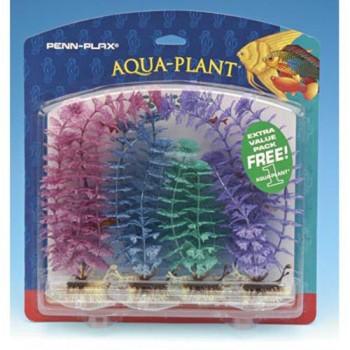Penn-Plax / Пен-Плакс Растение AQUA-PLANTS 20см цветное 6шт/уп c грузом PBP2M