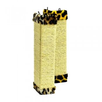 Зооник Когтеточка плоская угловая,веревка сизаль + мех.цв. 510х210х20