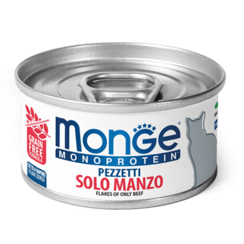 Monge / Монж Cat Monoprotein мясные хлопья для кошек из мяса говядины 80г