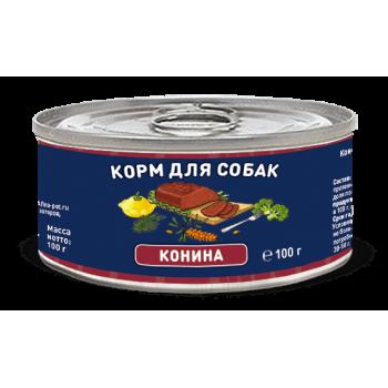 Solid Natura / Солид Натур Конина влажный корм для собак жестяная банка 0,1 кг
