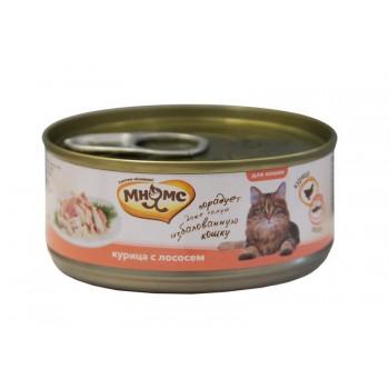 Мнямс консервы для кошек Курица с лососем в нежном желе 70 г