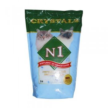№1 Наполнитель 3 л Crystals-Силикагелевый (1х10) /300/ 92207