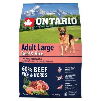 Ontario / Онтарио для собак крупных пород с говядиной и рисом 2,25 кг