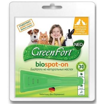 Green Fort / Грин Форт G201 БиоКапли д/кошек, кроликов и собак менее 10кг от эктопаразитов 1 пипетка*1мл