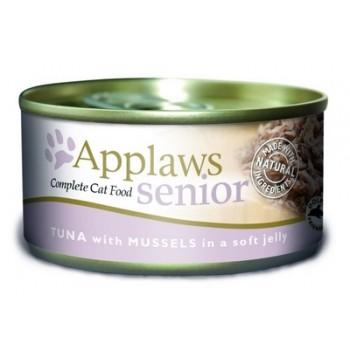 Applaws / Эпплаус Кусочки в желе для Пожилых кошек с Тунцом и Мидиями 0,07 кг