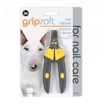 JW Когтерез с ограничителем, для собак, средний Grip Soft Medium Deluxe Nail Clipper (65015)